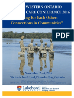 North Western Ontario Palliative Care Conference Program 2016