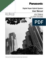 Manual Panasonic Program KX-TD1232