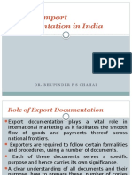 International Business Export and Import documentation regarding INDIA