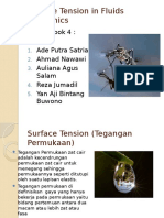 Surface Tension in Fluids Mechanics