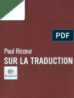 Paul Ricoeur-Sur La Traduction