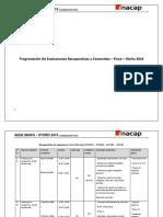 Planificación de Ev. Recuperativa Contenidos Final Física Primavera 2016