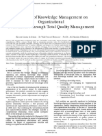 The Effect of Knowledge Management on Organizational Performance Through Total Quality Management
