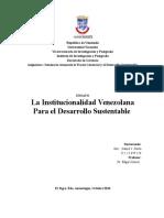 La Institucionalidad Venezolana Para el Desarrollo Sustentable