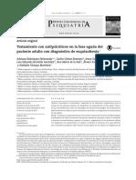 Tratamiento Con Antipsicótico en La Fase Aguda de La Esquizofrenia