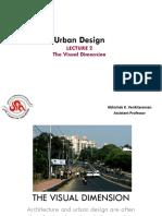 The Visual Dimension of Urban Design