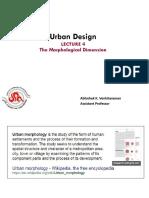 Morphological Dimension of Urban Design