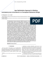 A Multidisciplinary Design Optimization Approach to Relating Affordability and Performance in a Conceptual Submarine Design