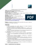 11 Especialización en Psicología Educacional