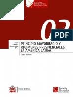 Principio mayoritario y regímenes presidenciales en América Latina