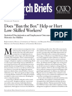 "Does ""Ban the Box"" Help or Hurt Low-Skilled Workers?"