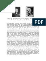 Carta de Xu Yun a Chiang Kai Shek