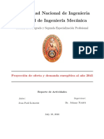 Proyeccion de Demanda de Energía Perú 2045