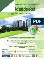 Proceedings - World Construction Symposium 2016