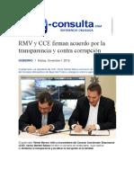 01.11.2016 e-consulta.com - RMV y CCE firman acuerdo por la transparencia y contra corrupción