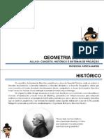 DESETEC AULA 03 Conceito GD Histórico Sistemas de Projeção Espaço Mongeano