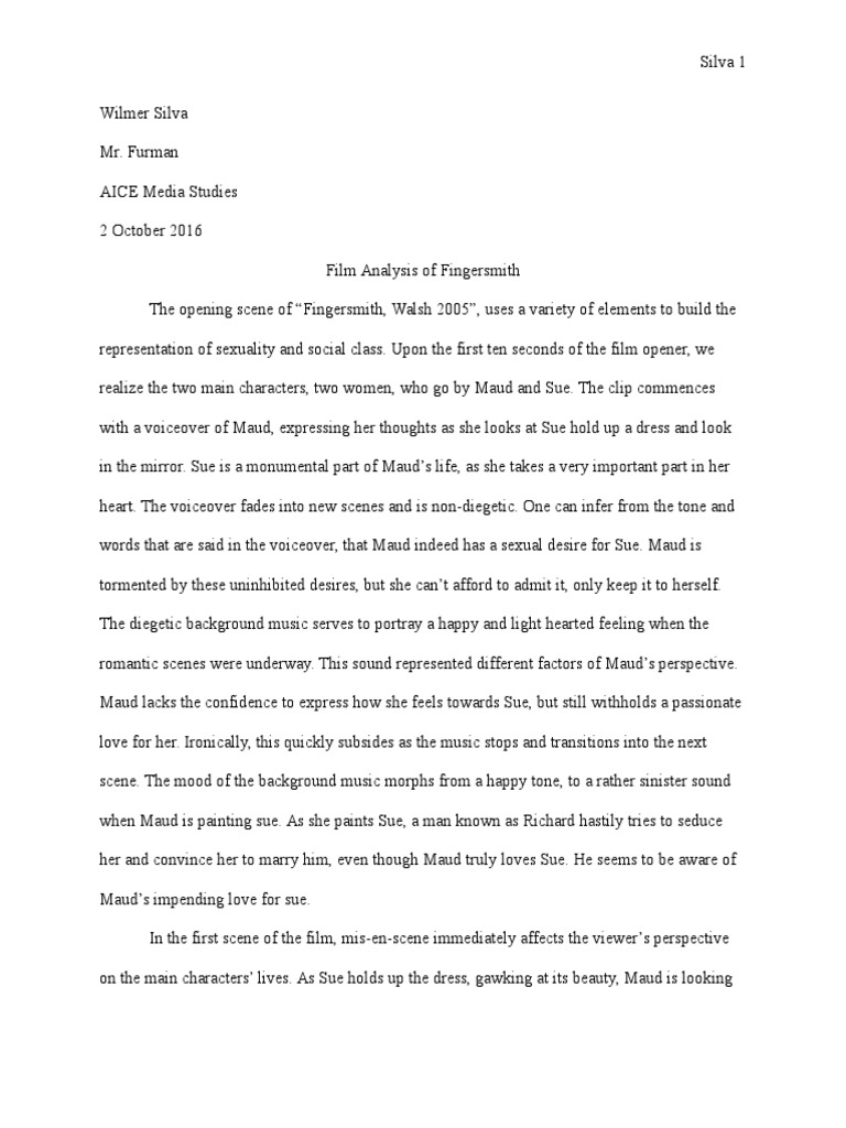 fingersmith analysis essay