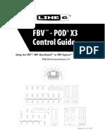 FBV-POD X3 Control Guide ( Rev a )