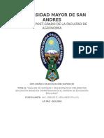 Monografía de Diplomado de Educación Superior
