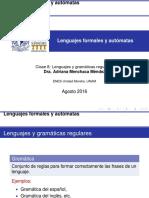 Lenguajes y gramáticas regulares