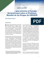 Los Retos de La UNASUR Sobre El Problema de Las Drogas