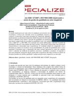 Congruencia Entre Rdc 67 2007 e Iso 9001 2000 Objetivando o Desenvolvimento Da Gestao Da Qualidade No Setor Magistral 16131012