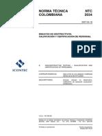 NTC 2034 Ensayos no Destructivos. Calificación y Certificación de Personal.pdf