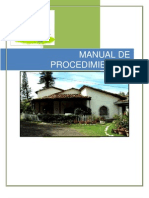 Manual de Procedimientos Hotel La Palma