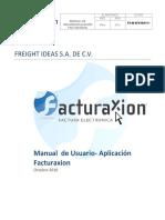 Manual de Usuario Aplicaci n Facturaxion
