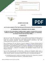 Decreto 93 de 1998