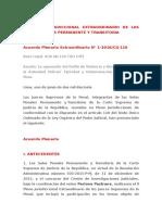 II Pleno Jurisdiccional Extraordinario de Las Salas Penales Permanente y Transitoria