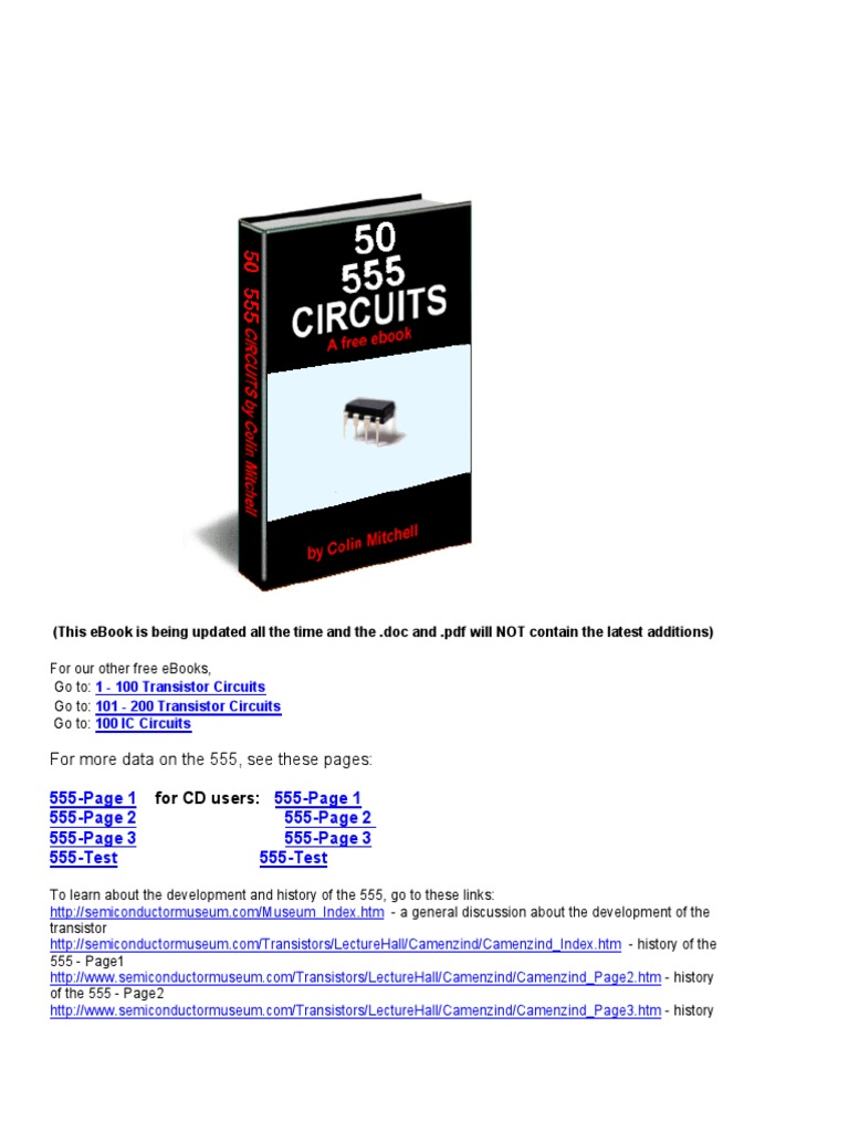 50 555circuitspdf Electronic Circuits Oscillator Rc Coupled Transistor Amplifier Circuit Electronics Forum