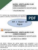 #Refrigeração - Aula_resumo_psicrometria e Transformações