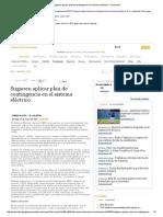 Sugieren Aplicar Plan de Contingencia en El Sistema Eléctrico - Economía