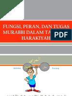 Materi 1 -- Fungsi-Peran-Tugas Murabbi Dalam Tarbiyah Harakiyah