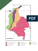 Provincias Tectonoestratigraficas de colombia