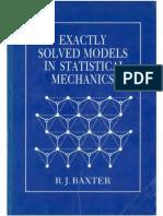 Exactly Solved Models in Statistical Mechanics Baxter -RamPDF-DJV