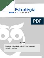 PDF Receita Federal Auditor 2015 Legislacao Tributaria p Afrfb 2015 Aula 07