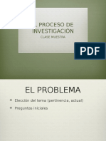 CLASE MUESTRA, PROCESO DE INVESTIGACIÓN