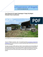 Casa Esperanza of Angels Orphanage Starts Exterior Fence Construction