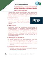 Terminos de Referencia 2015