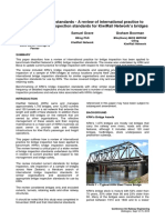 Bridge inspection standards - A review of international practice to benchmark bridge inspection standards for KiwiRail Network's bridges