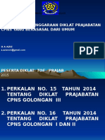 Overview Kebijakan Penyelenggaraan Prajab Umu 2015