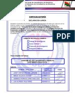 Carta de Autoria, Carta de Autorizacion de Envio