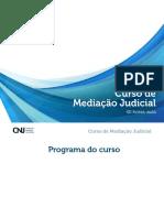 Curso de Mediação Judicial Cnj 40 Horas-Aulas