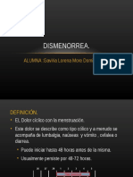 Dismenorrea Expo 18 OCTUBRE II