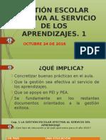 Gestión Escolar Efectiva Al Servicio de Los Aprendizajes
