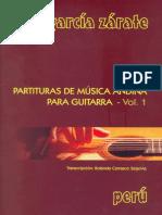 Partituras de Música Andina para Guitarra. Vol. I