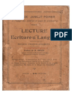 (1908) Lecture Ecriture et Langage