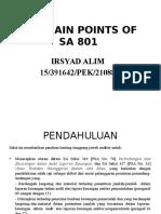 The Main Points of Sa 801